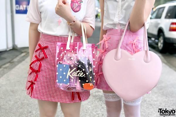 Milk Heart Handbag & Katie Japan Purse