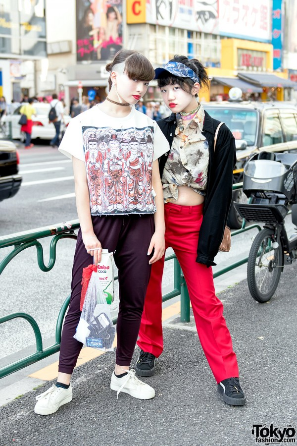 Harajuku Girls' Street Styles w/ Comme Des Garcons, Faith Tokyo & Remake Fashion
