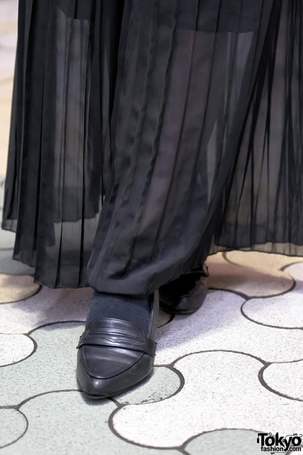 Loafers & Sheer Skirt