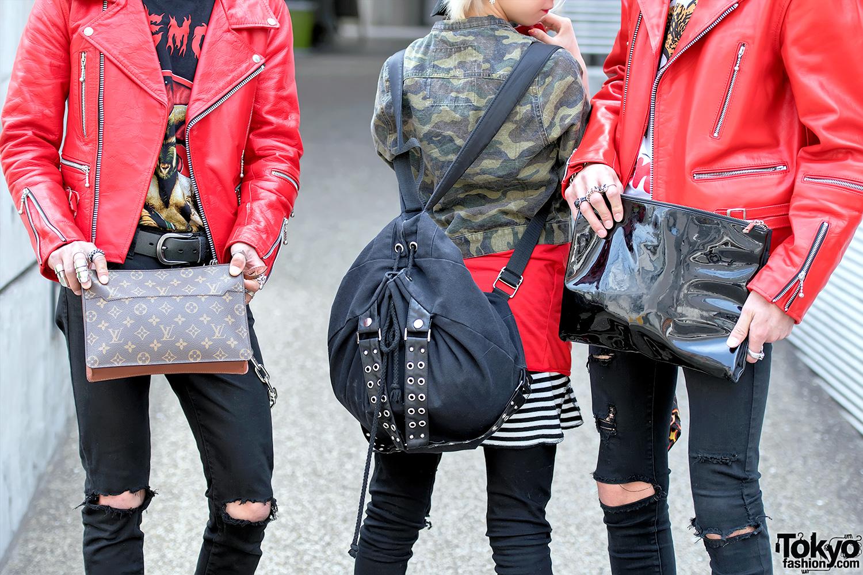 Harajuku Punk Styles W 666 Japan Leather Jackets Skinny