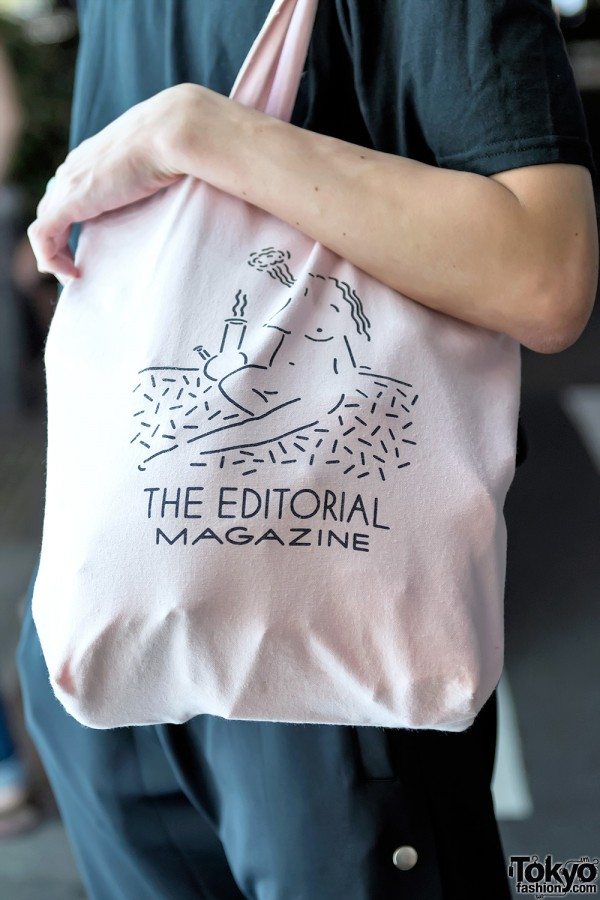 Editorial Magazine Pink Tote Bag