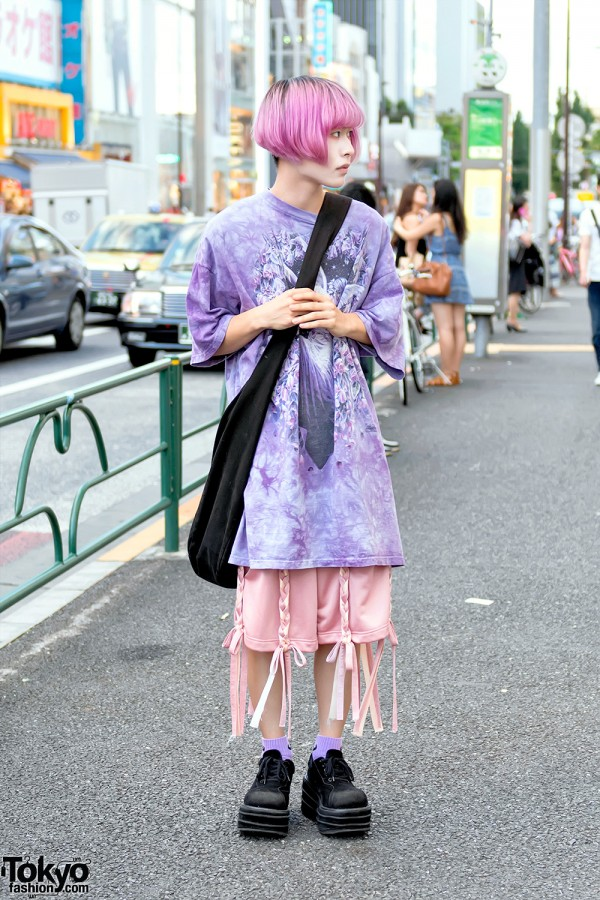 Pink Haired Harajuku Guy in Niconpanda & Demonia