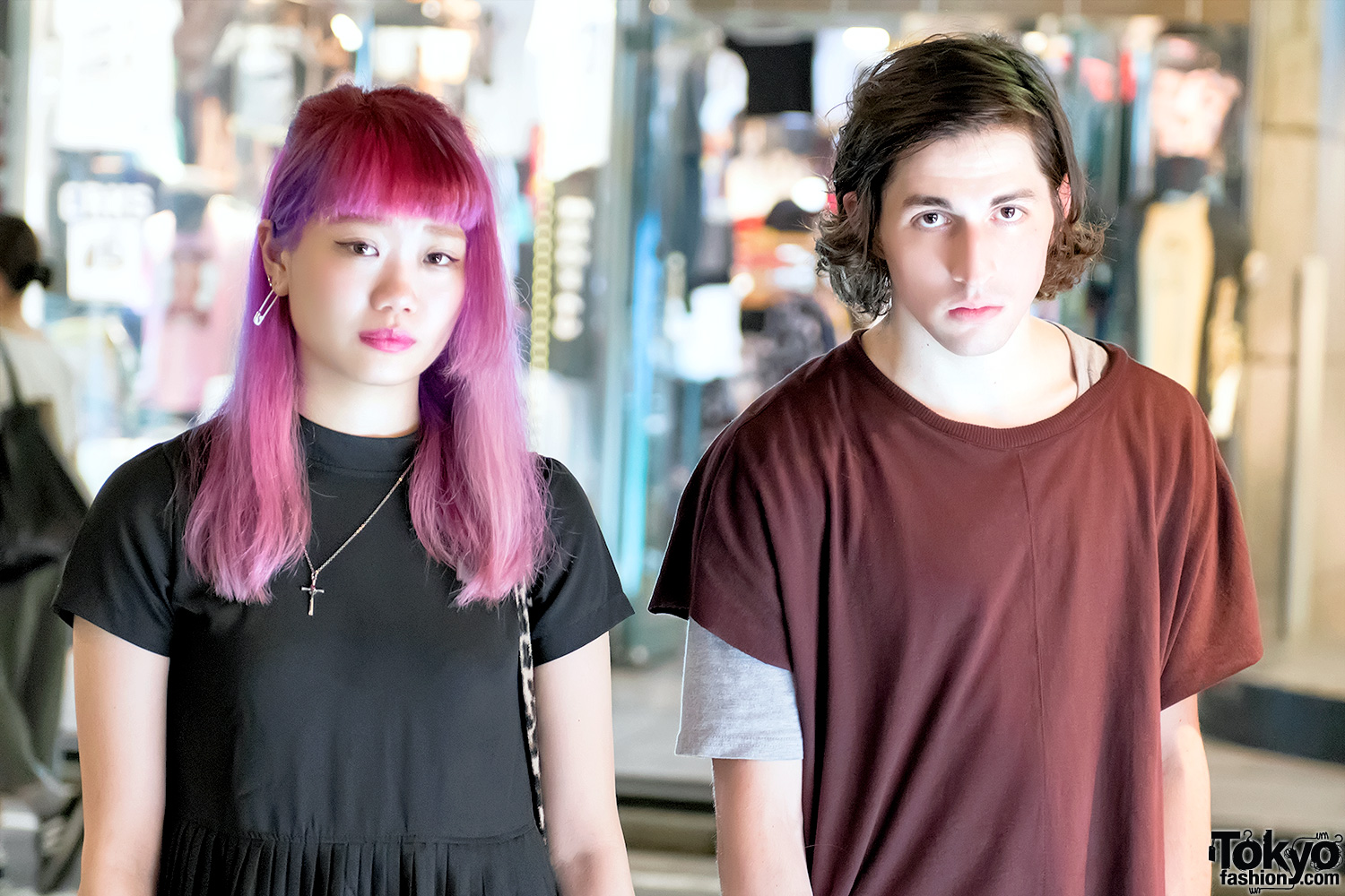 Musician Porter Robinson & Japanese Model Elleanor on the Street in Harajuku