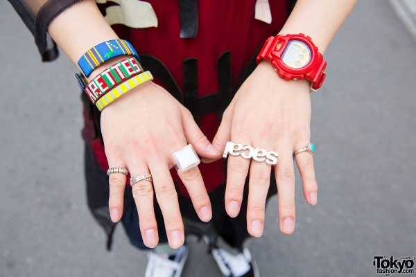 Sacai accessories and G-Shock watch