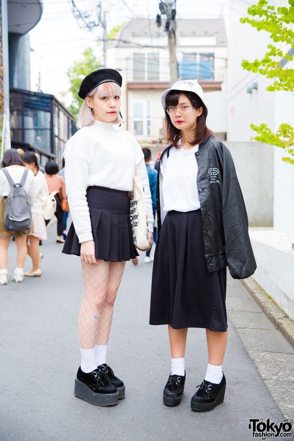 Harajuku Girls in Minimalist Fashion with American Apparel, Nadia, Don Quijote, GU and WEGO