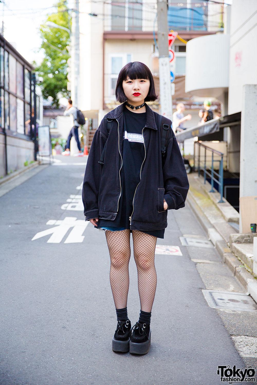 Harajuku Girl In All Black Resale Fashion With Nadia