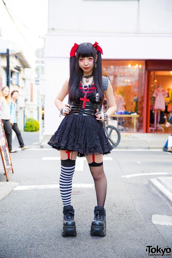 Harajuku Goth-Punk Style w/ Twin Tails, Algonquins, tutuHA, Demonia & HellcatPunks