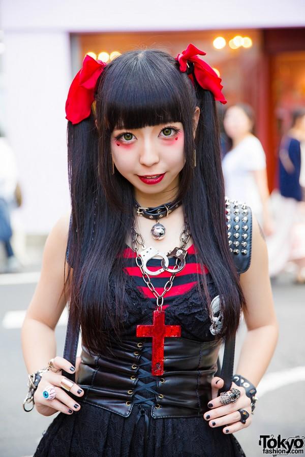 Harajuku Goth Punk Style W Twin Tails Algonquins Tutuha