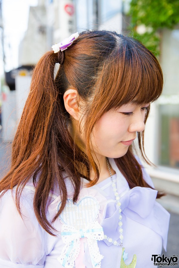 Twin tails and Angelic Pretty ruffle blouse