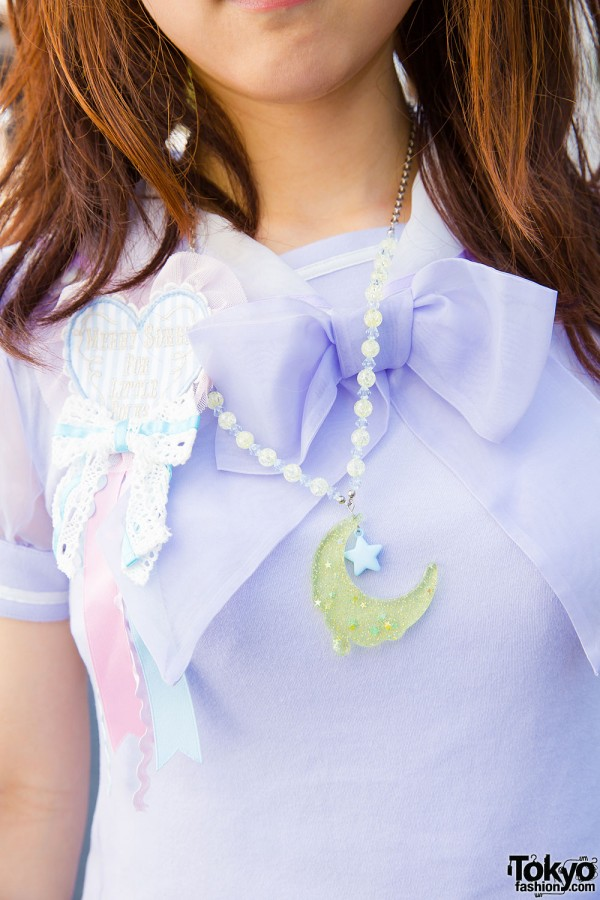 Angelic Pretty ruffle blouse and decora necklace