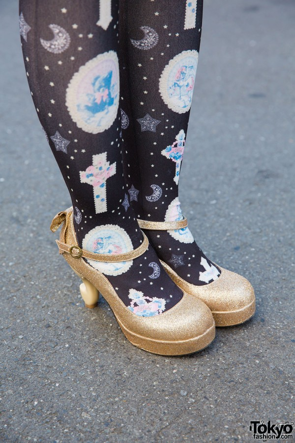 Baby the Stars Shine Bright gold glitter Mary Janes
