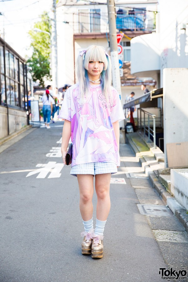 Harajuku Girl w/ Candye Syrup x Amu Tee, Ombre Twin Tails & Liz Lisa