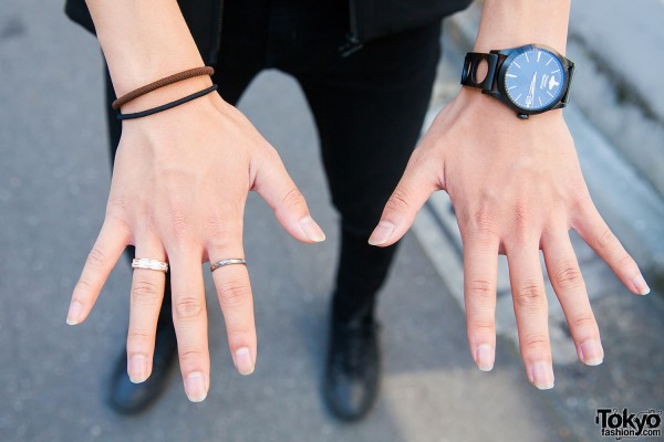 Vivienne Westwood watch, Disney ring, Justin Davis ring and wristbands