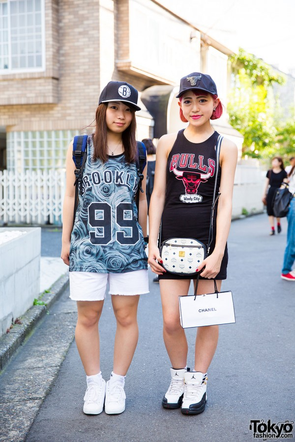 Sporty chic girls with Nike Air Jordan and Adidas kicks