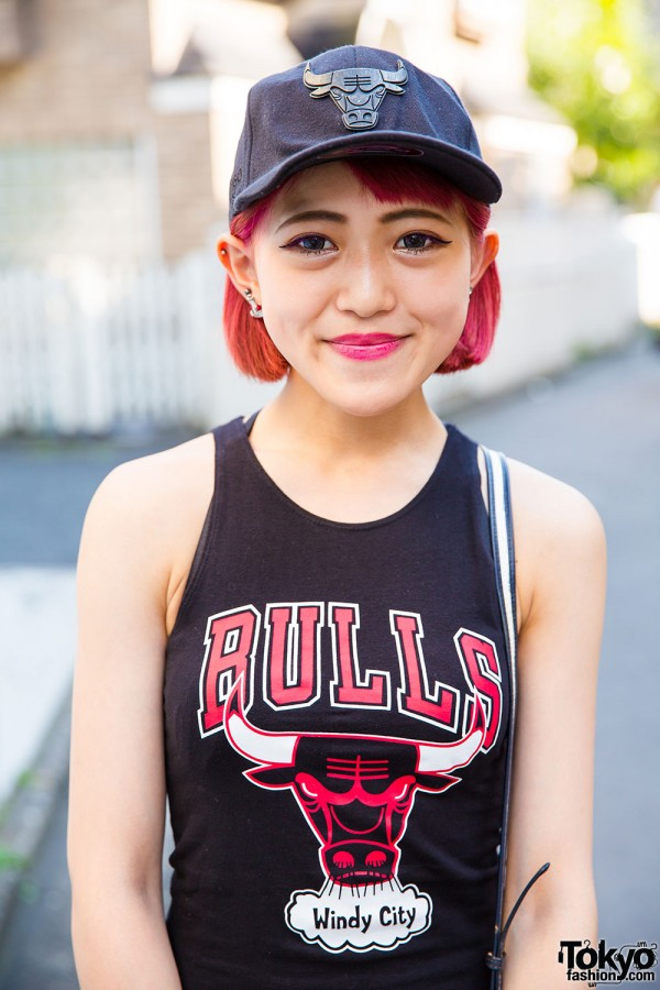 Forever21 x NBA Bulls jersey top and cap