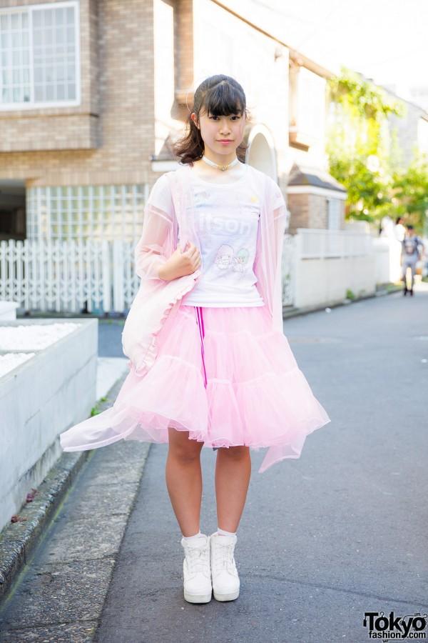 Harajuku Girl in Tulle Skirt w/ Little Twin Stars & Princess One Spoon