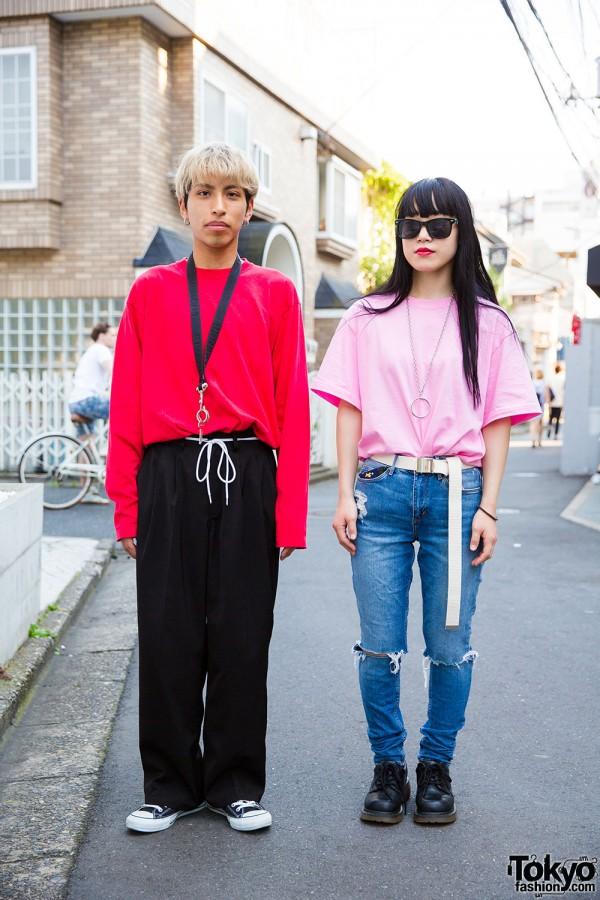 Harajuku duo in resale fashion