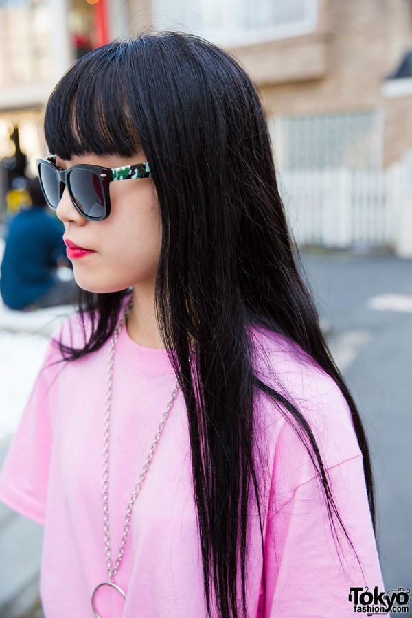 Faith Tokyo sunglasses and silver necklace