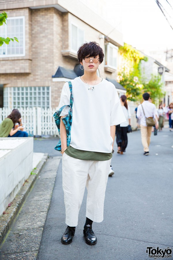 Harajuku Guy in Minimalist Style w/ Sense of Place, Connecter Tokyo & Paul Smith