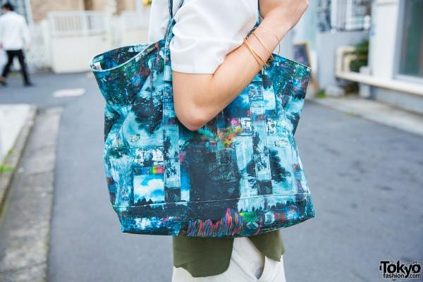 Resale printed tote bag