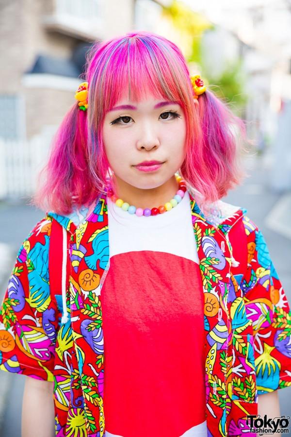 6%DokiDoki and Claire's decora accessories, Japan flag shirt and Kinji hoodie jacket