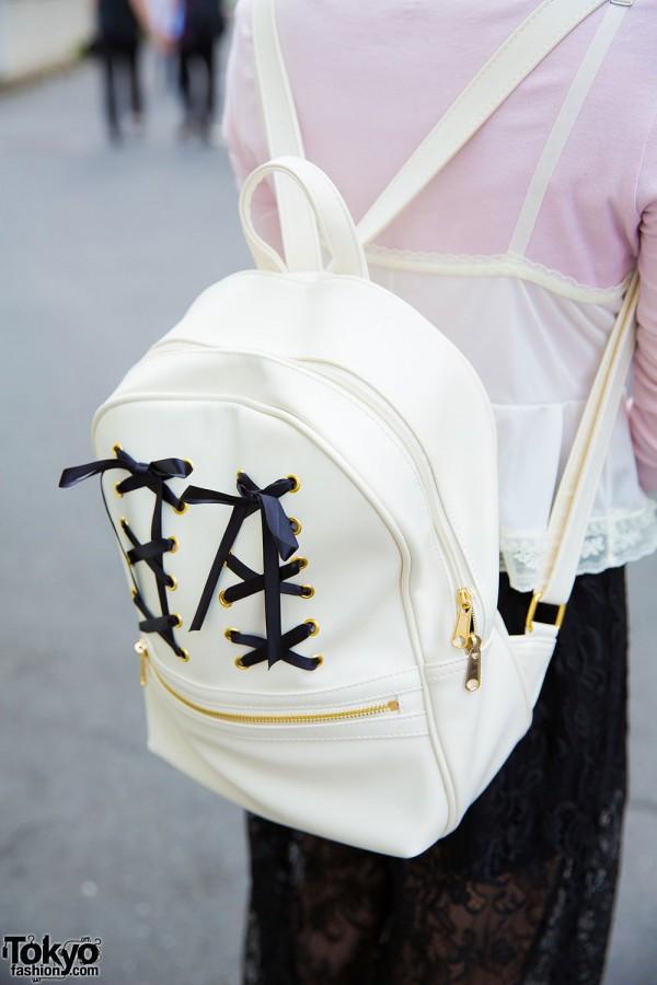 WEGO white backpack