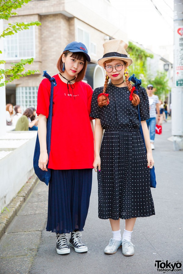 Resale fashion with Uniqlo pleated skirt, merry jenny shirt, Converse high tops and more
