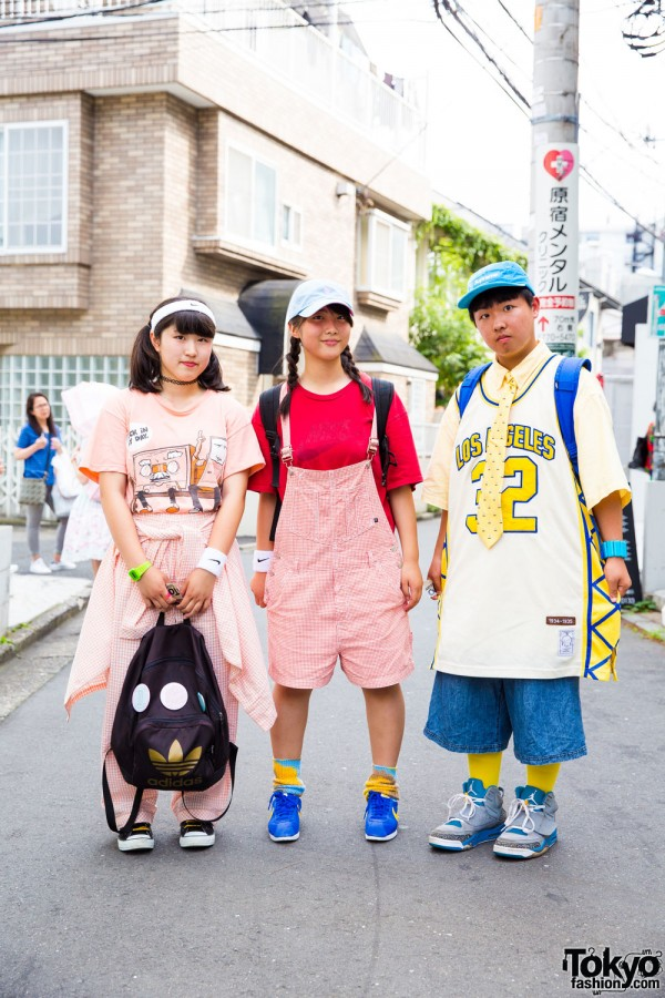 Harajuku Trio in Sporty Cute Fashion w/ Nike, Converse, Adidas, San to Nibun no Ichi & More