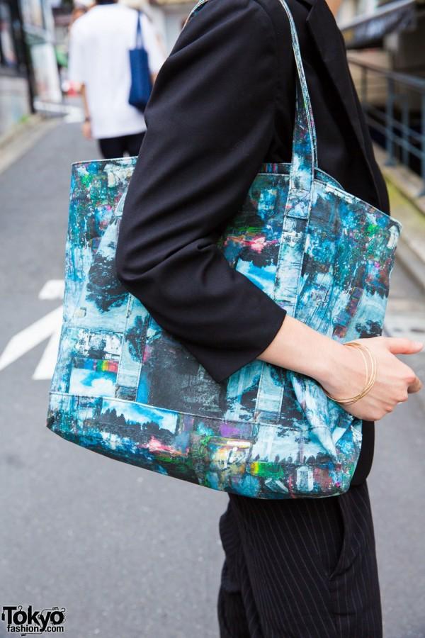 Connecter Tokyo printed tote bag
