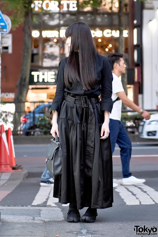 Dark Harajuku Street Style w/ Yohji Yamamoto, Limi Feu & Tabi Shoes
