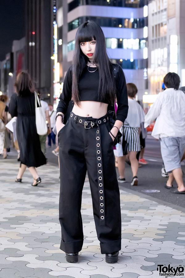 Harajuku Girl in All Black Fashion w/ Faith Tokyo, Killstar, Deandri & American Apparel