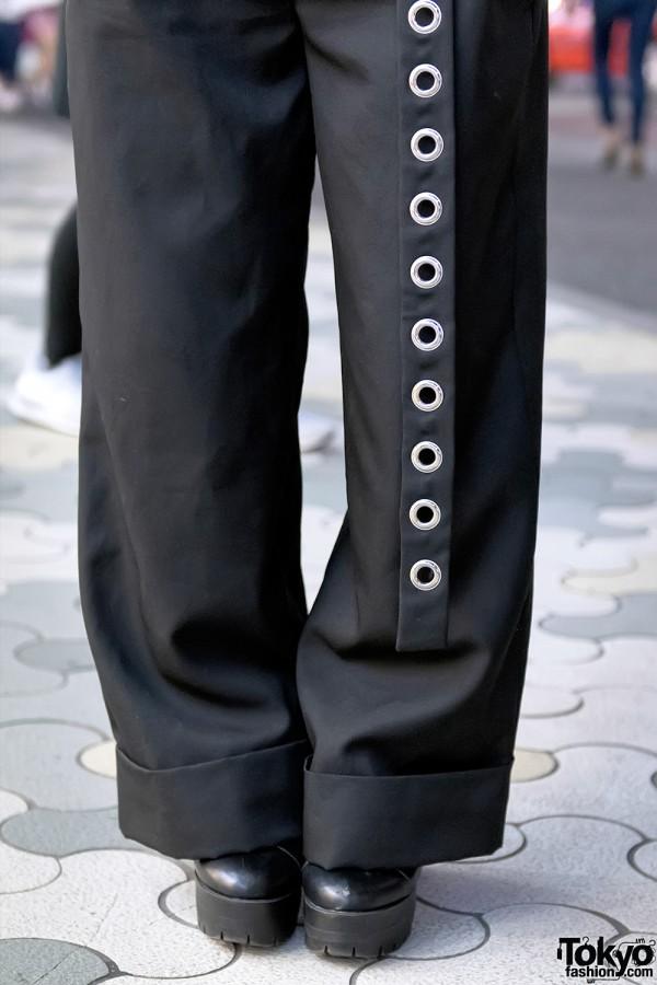 Faith Tokyo Pants & Grommet Belt