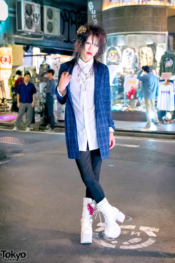 Harajuku Street Style w/ Piercings, Jury Black, Justin Davis & Yosuke Platform Boots