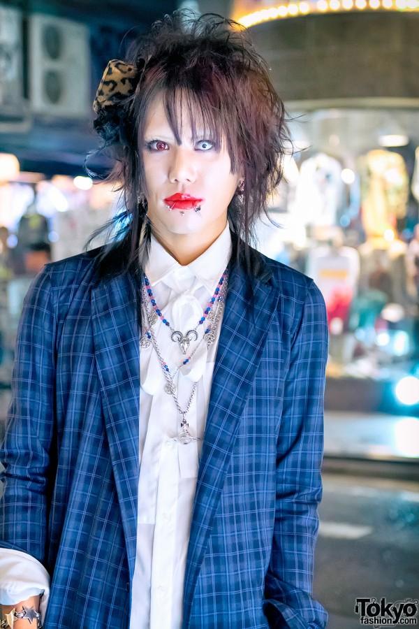 Harajuku Guy w/ Piercings & Red Lipstick
