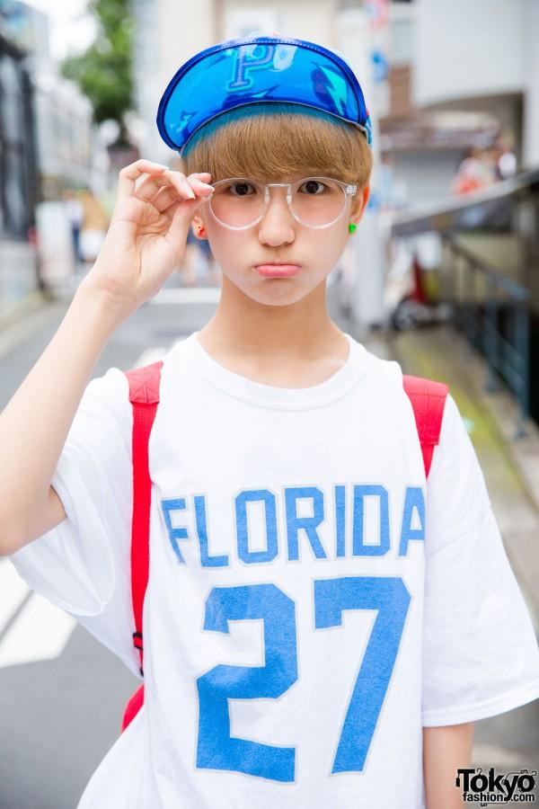 P-Chan in Florida T-Shirt in Harajuku