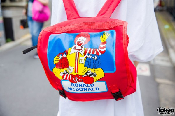 Ronald McDonald backpack, Harajuku