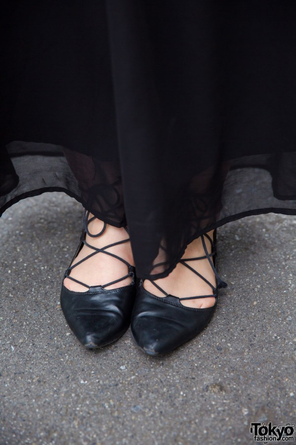 Lowrys Farm pointed lace-up flats