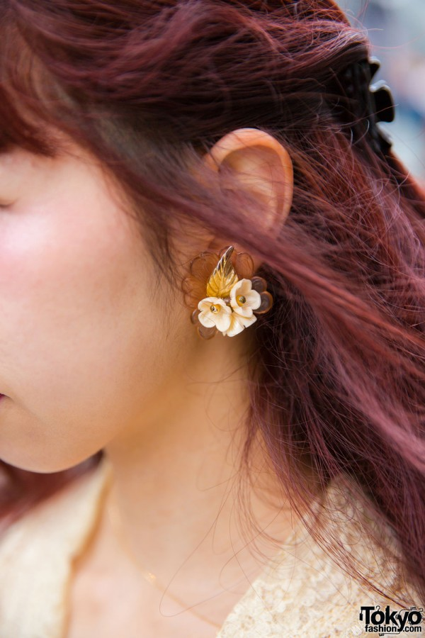 Vintage Flower Earrings