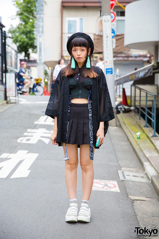 Harajuku Girl In Sheer Jacket W Dvmvge Unif Tokyo Bopper Nadia