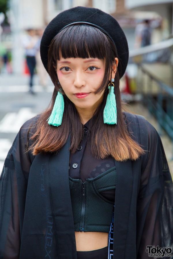 DVMVGE Corset Top & Kimono Jacket
