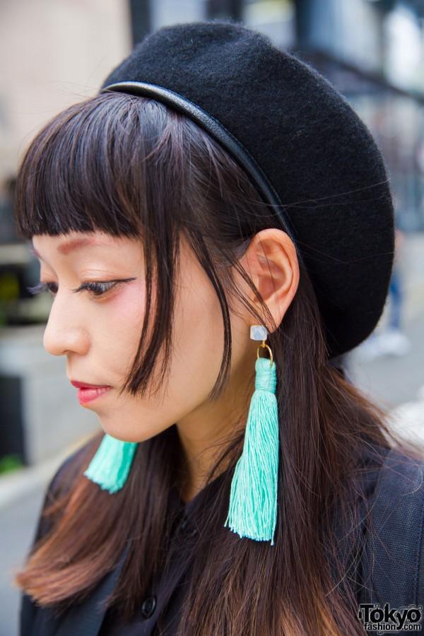 Nadia Harajuku Turquoise Tassel Earrings