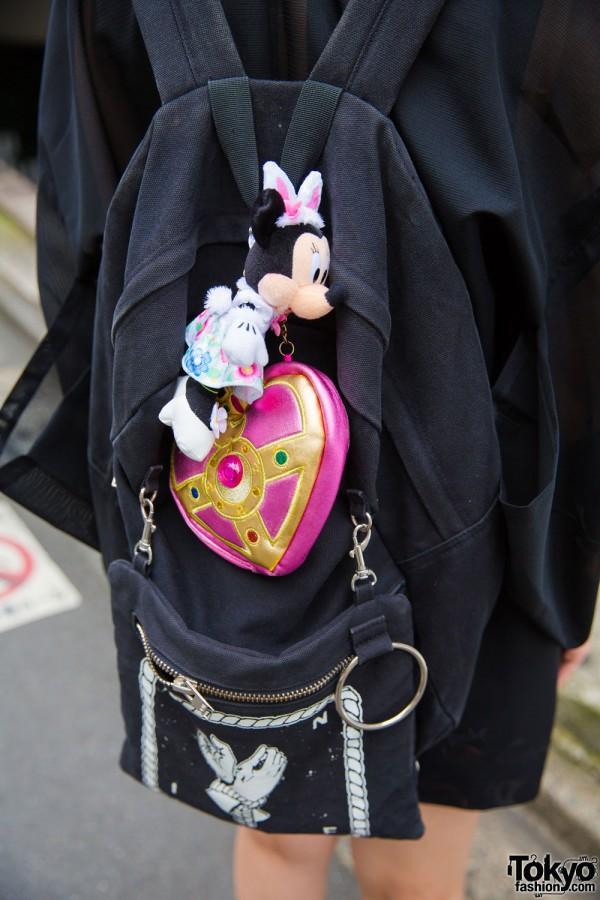 UNIF Backpack w/ Sailor Moon Heart Charm