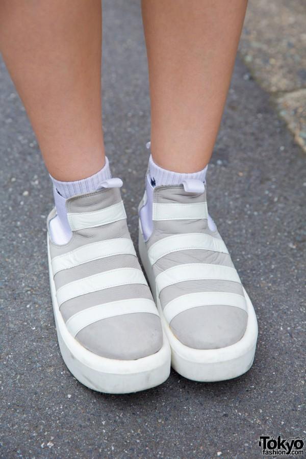 Tokyo Bopper Striped Platform Shoes