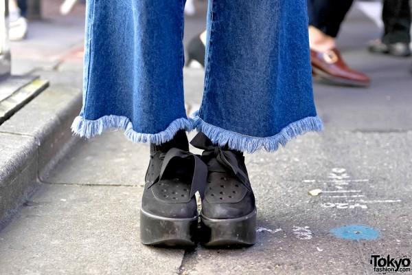 Tokyo Bopper Platform Shoes & Nadia Harajuku Wide Leg Pants