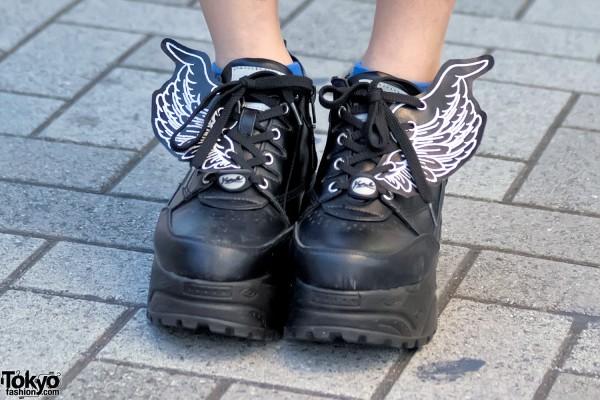 Yosuke Winged Platform Sneakers