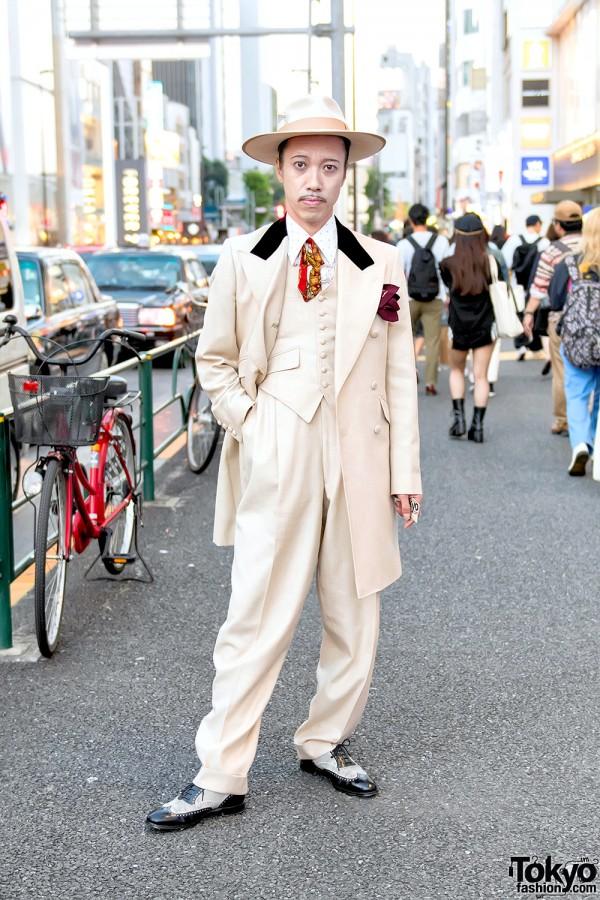 Retro Men's Zoot Suit Style in Tokyo w/ Juvenile Delinquent & Lloyd Footwear