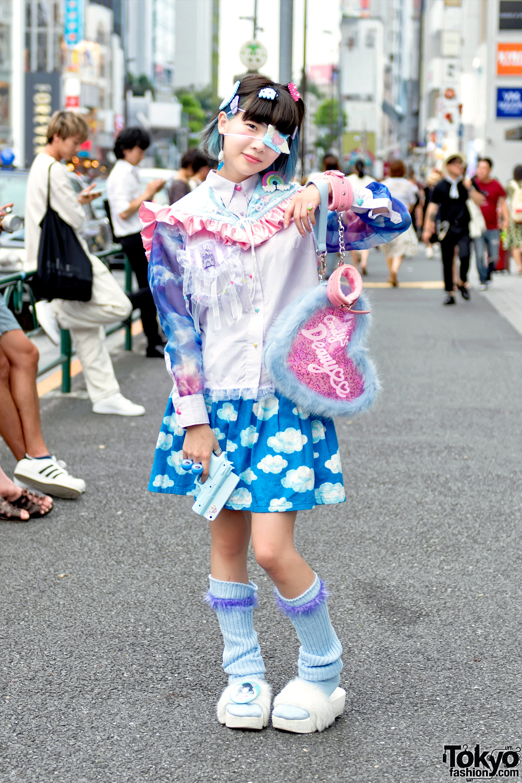 Harajuku Girl W Pastel Weapon Fluffy Heart Bag Loose