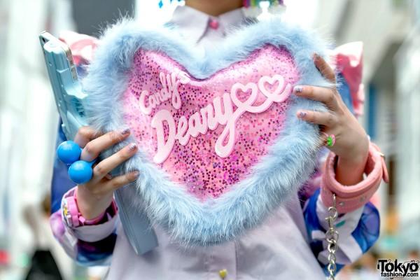 Candy Stripper Harajuku Heart Bag