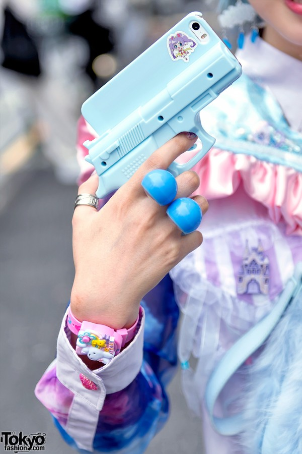 Pastel Weapon With Anime Sticker