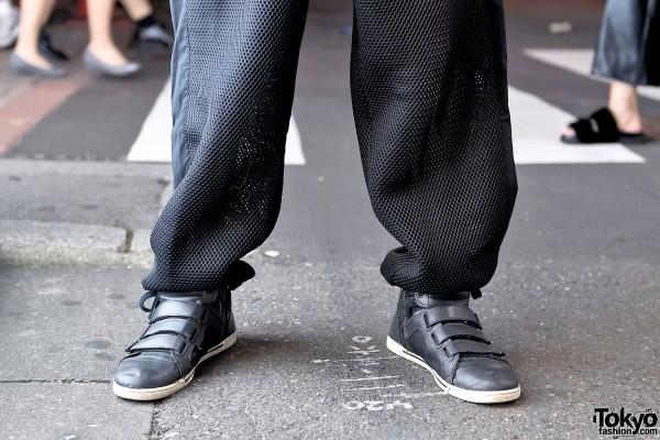 Velcro Sneakers & Mesh Pants